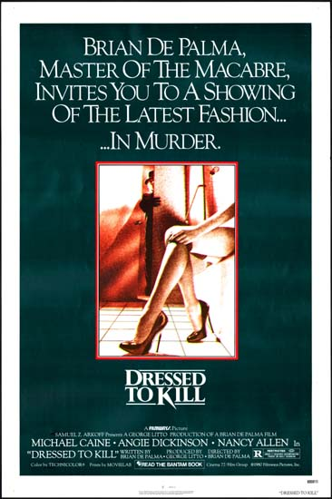 Dressed to Kill US One Sheet movie poster