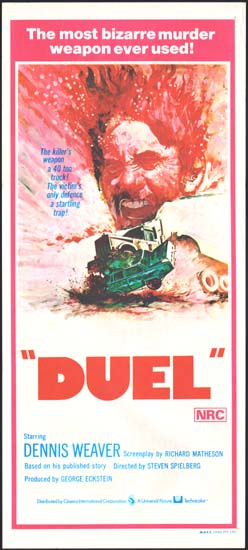 Duel Australian Daybill movie poster