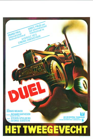 Duel Belgian movie poster