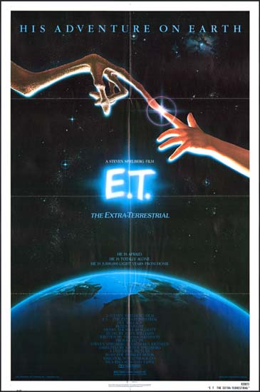 ET The ExtraTerrestrial US One Sheet movie poster