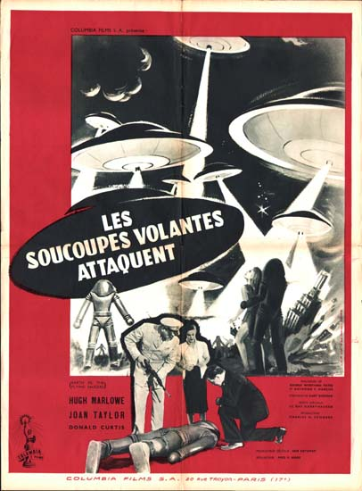Earth vs the Flying Saucers French movie poster
