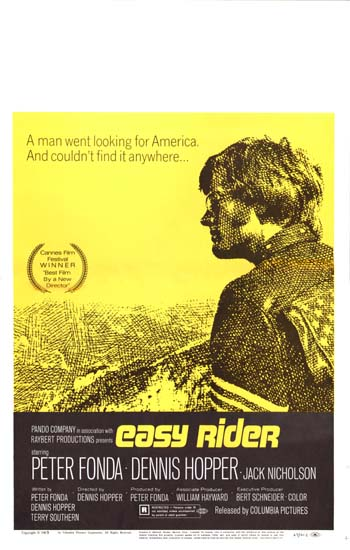 Easy Rider US Window Card movie poster