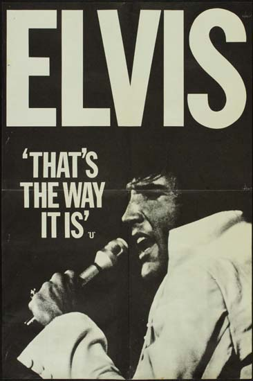 Elvis Thats the Way It Is UK Double Crown style A movie poster