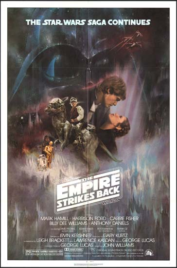 Empire Strikes Back, The US One Sheet style A movie poster