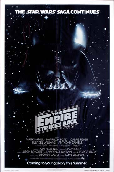 Empire Strikes Back, The US One Sheet advance movie poster