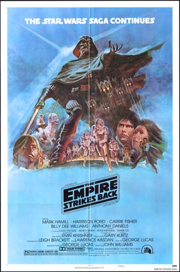 Empire Strikes Back, The US One Sheet style B movie poster