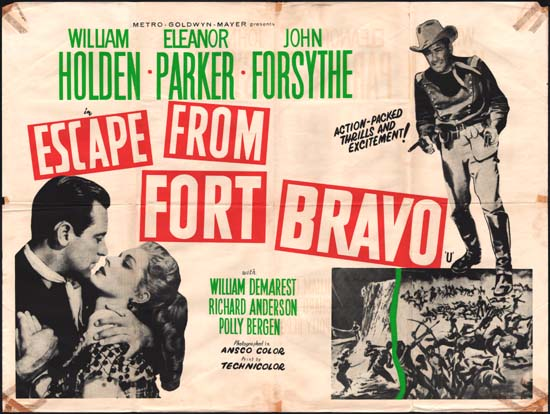 Escape from Fort Bravo UK Quad movie poster