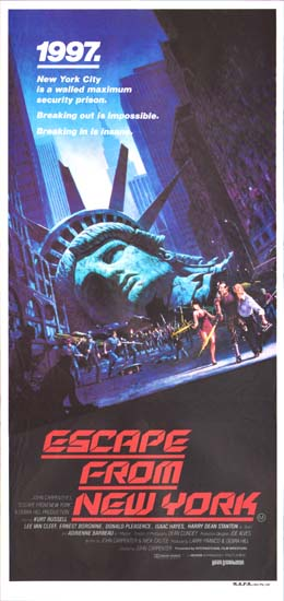 Escape from New York Australian Daybill movie poster