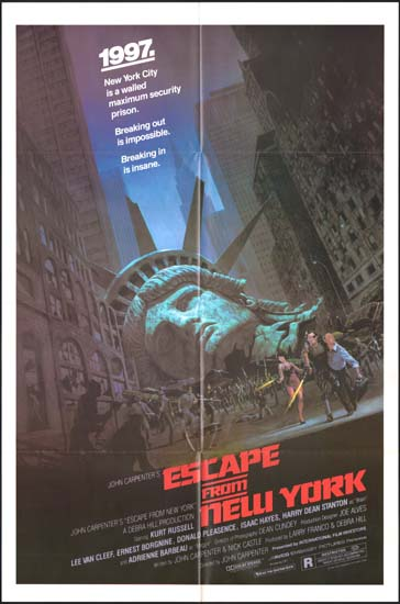 Escape from New York US One Sheet studio release movie poster