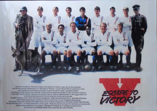 Escape to Victory UK special movie poster