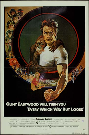 Every Which Way But Loose US One Sheet international movie poster
