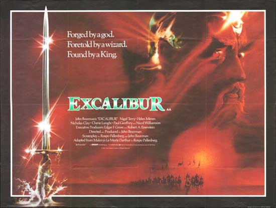 Excalibur UK Quad movie poster