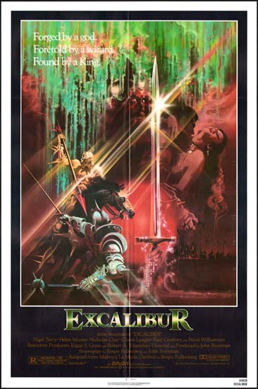 Excalibur US One Sheet movie poster