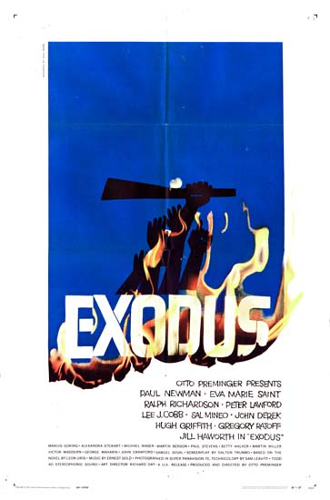 Exodus US One Sheet movie poster