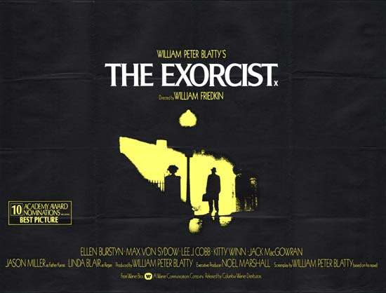 Exorcist, The UK Quad movie poster
