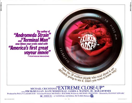 Extreme CloseUp US Half Sheet movie poster