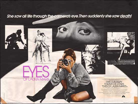 Eyes of Laura Mars UK Quad movie poster