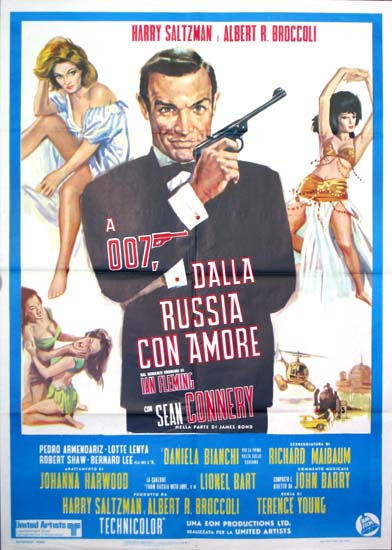 From Russia With Love Italian Due Fogli movie poster