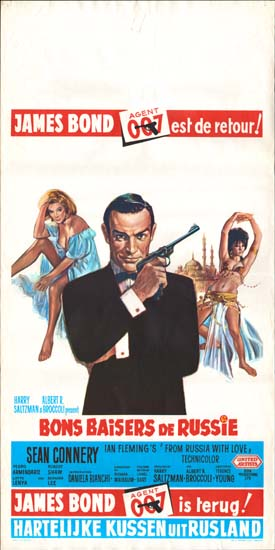 From Russia With Love Belgian movie poster