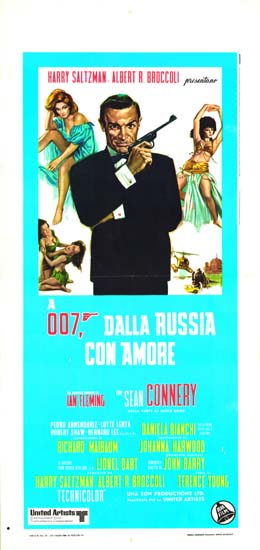 From Russia With Love Italian Locandina movie poster