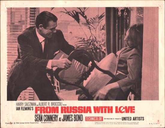 From Russia With Love US Lobby Card number 7