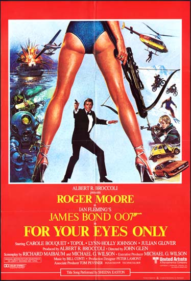 For Your Eyes Only UK One Sheet movie poster