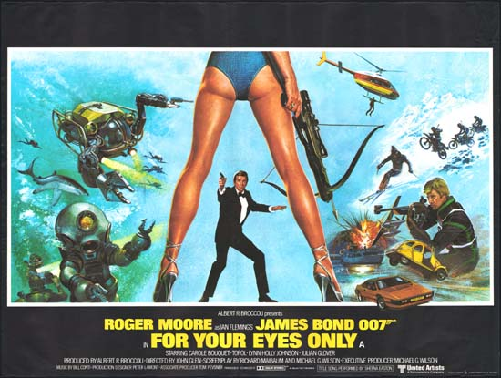 For Your Eyes Only UK Quad movie poster