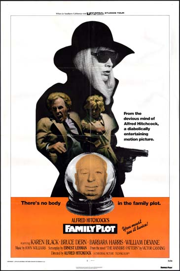 Family Plot US One Sheet movie poster