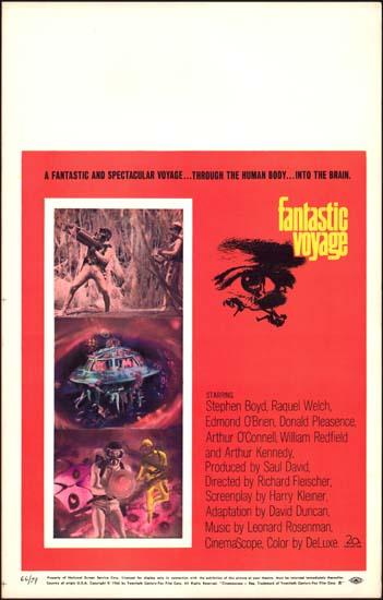 Fantastic Voyage US Window Card movie poster