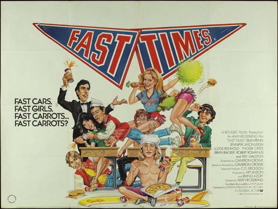 Fast Times at Ridgemont High UK Quad