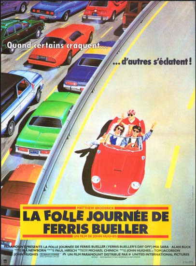 Ferris Buellers Day Off French movie poster