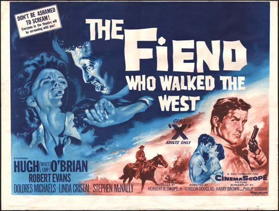 Fiend Who Walked The West, The UK Quad movie poster