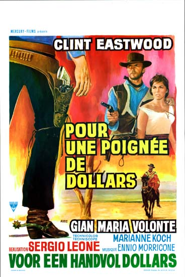 Fistful of Dollars, A [ Per un Pugno di Dollari ] Belgian movie poster