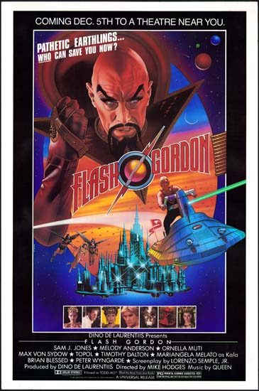 Flash Gordon US One Sheet advance movie poster
