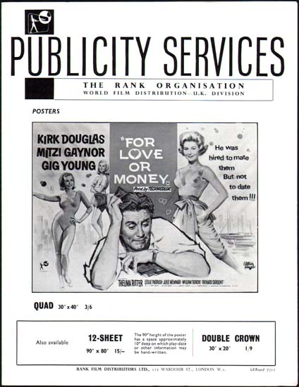 For Love or Money UK Pressbook