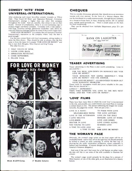 Image 2 of For Love or Money UK Pressbook