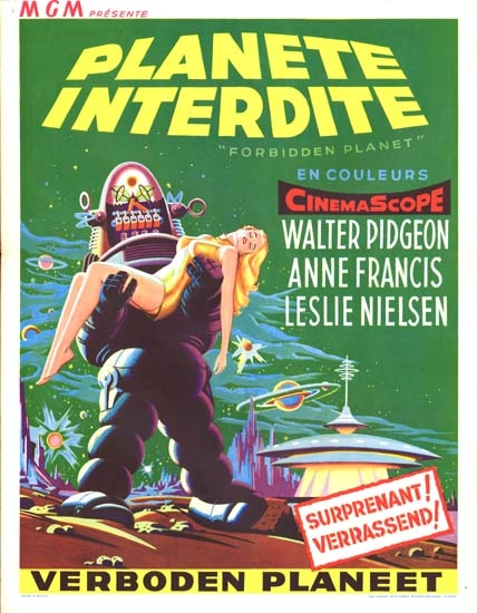 Forbidden Planet Belgian movie poster