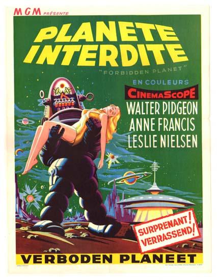 Forbidden Planet Belgian movie poster