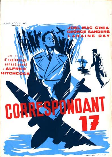 Foreign Correspondent Belgian movie poster