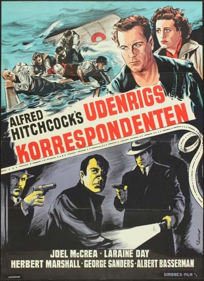 Foreign Correspondent Danish One Sheet movie poster