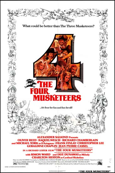 Four Musketeers, The US One Sheet movie poster