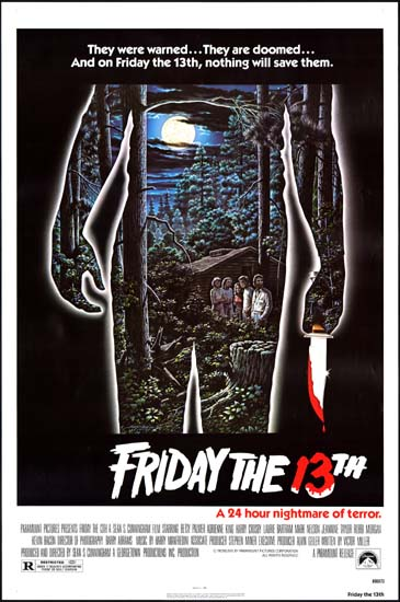 Friday the 13th US One Sheet movie poster