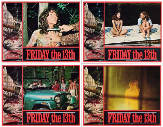 Friday the 13th US Intl Lobby Card Set of 8