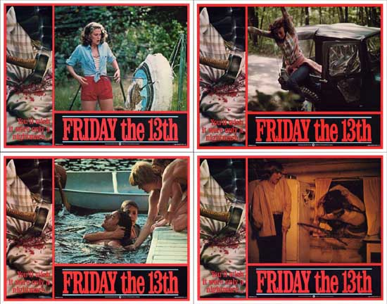 Image 2 of Friday the 13th US Intl Lobby Card Set of 8