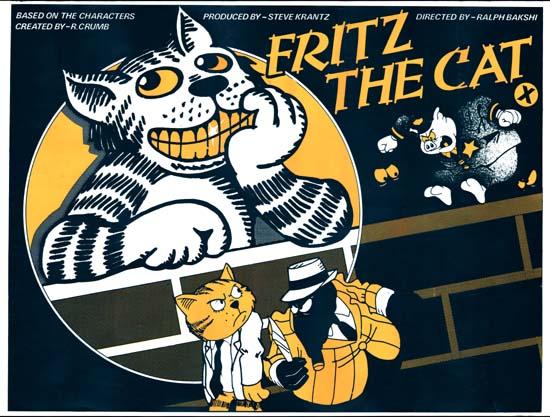 Fritz the Cat UK Quad movie poster