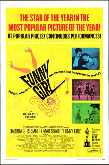 Funny Girl US One Sheet movie poster