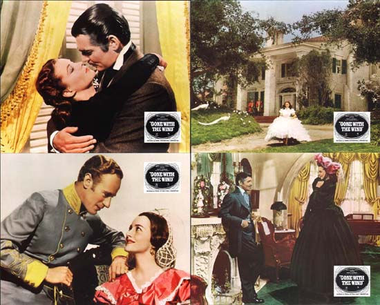 Gone With The Wind US Mini Lobby Card Set of 10