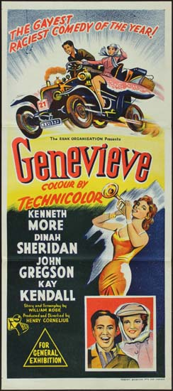 Genevieve Australian Daybill movie poster