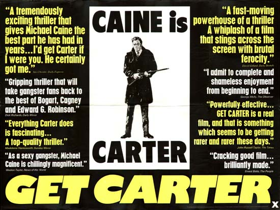 Get Carter GB Quad teaser movie poster