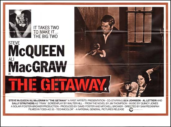 Getaway, The UK Quad movie poster